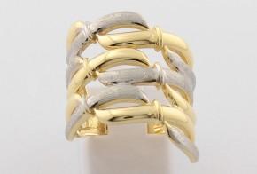 Дамски пръстен от бяло и жълто злато DD0120