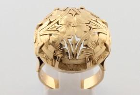 Дамски пръстен от жълто злато DD0152