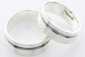 Брачни халки от сребро BH0146