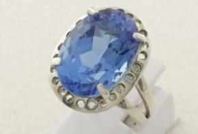 Дамски сребърен пръстен с циркон SD0119