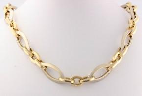 Златен синджир от бяло и жълто злато C0118