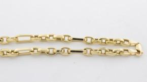 Златен синджир от  жълто злато  С0042  - ширина 5 мм., дължина 55 см.