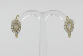Детски обеци от жълто злато с циркони  OBD0015
