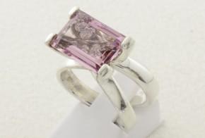 Дамски сребърен пръстен с циркони SD0073