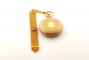 Джобен часовник с верижка с камъни  ZKCH004