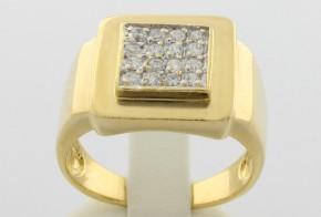 Мъжки пръстен от жълто злато MD0048