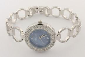 Дамски Сребърен часовник с циркони CH0015