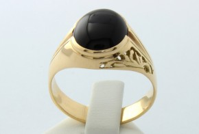 Мъжки пръстен от жълто злато MD0006