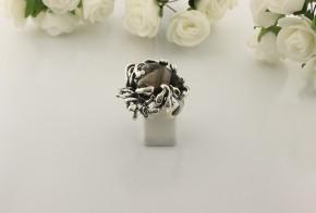 Дамски сребърен пръстен с пушен кварц SD31