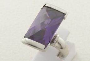 Дамски сребърен пръстен с циркон SD0092
