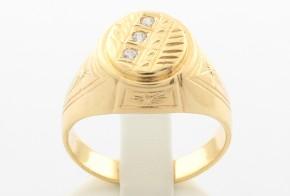 Мъжки пръстен от жълто злато MD0046
