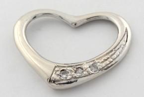 Висулка от бяло злато с диаманти  VE846