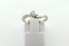 Годежен пръстен от бяло  злато с диамант D3063
