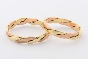 Брачни халки от жълто и розово злато BH0308