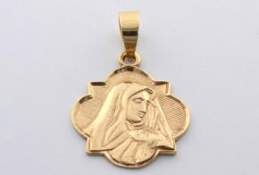 Златна висулка от   жълто злато  V0030