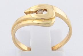 Годежен пръстен от жълто злато с диамант D550