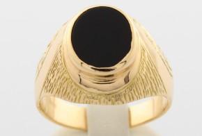 Мъжки пръстен от жълто злато MD0012