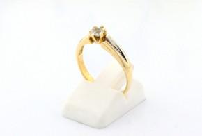 Годежен пръстен от бяло и жълто злато със сапфир D2055