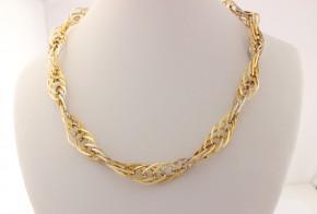 Златен синджир от бяло и жълто злато C0150