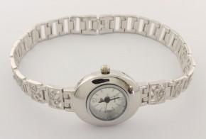 Дамски Сребърен часовник с циркони CH0013