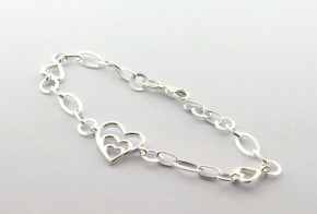 Сребърна гривна  SGR0098