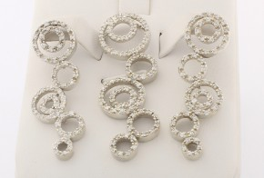 Дамски сребърен комплект с циркони SKT0010