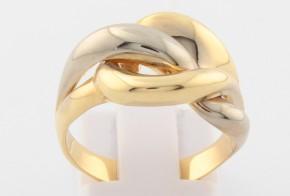 Дамски пръстен от бяло и жълто злато DD0105