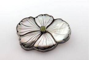 Сребърна брошка  със седеф   SB0020
