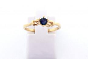 Годежен пръстен от  жълто злато с диамант D3073