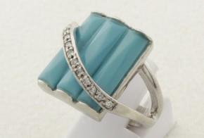 Дамски сребърен пръстен с циркони SD0075