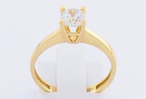 Годежен пръстен от жълто злато с циркон GD0083