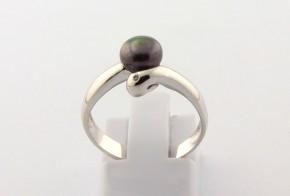 Годежен пръстен от бяло злато с диамант D2155
