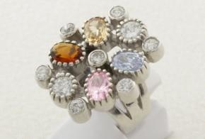Дамски сребърен пръстен с циркони SD0071