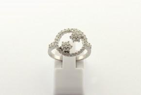 Дамски сребърен пръстен  с циркони SD0181