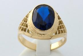 Мъжки пръстен от жълто злато MD0005