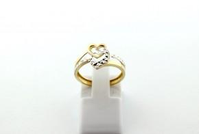 Дамски пръстен от бяло и жълто злато DD0199