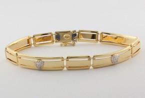 Златна гривна от бяло и жълто златo тип Версаче GR0143