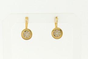 Детски златни обеци от жълто злато с циркони OBD0027