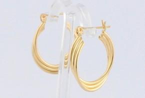 Златни обеци халки от жълто злато OB0147