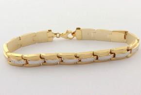 Златна  гривна от бяло и жълто златo GR0161