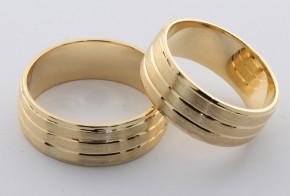 Брачни халки от жълто злато BH0001