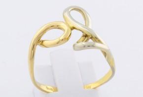 Дамски пръстен от бяло и жълто злато DD0101