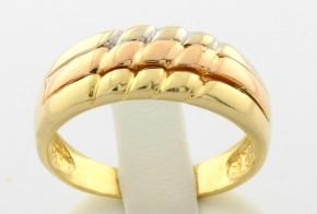 Дамски пръстен от бяло , жълто  и розово злато DD0039