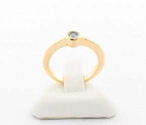 Годежен пръстен от жълто злато с циркони - 3,65  грама ,размер 50