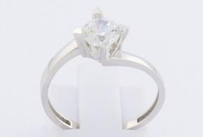 Годежен пръстен от бяло злато с циркон GD0086