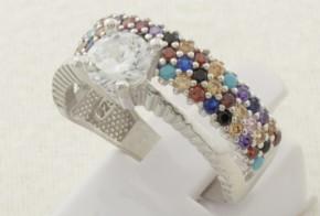 Дамски сребърен пръстен с циркони SD0135