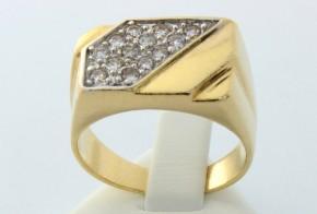 Мъжки пръстен от жълто злато MD0007