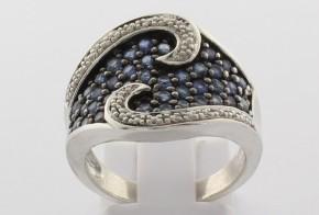 Сребърен пръстен с циркони CSD0034