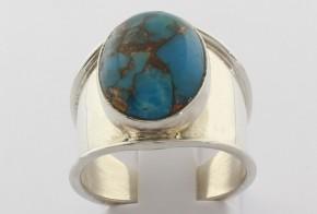 Сребърен пръстен с лазурит CSD0036
