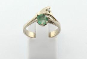 Годежен пръстен от бяло  злато с диамант D3088